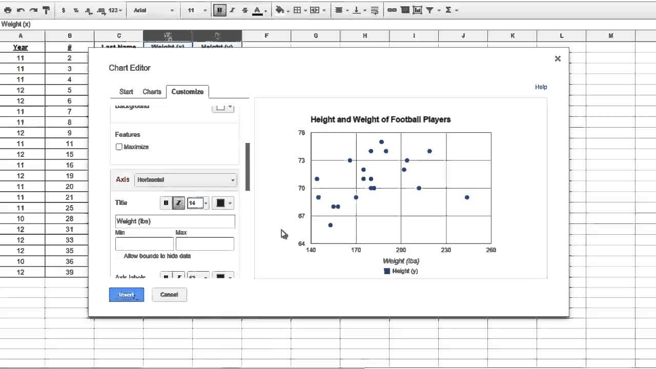 Data Analysis Google Sheets