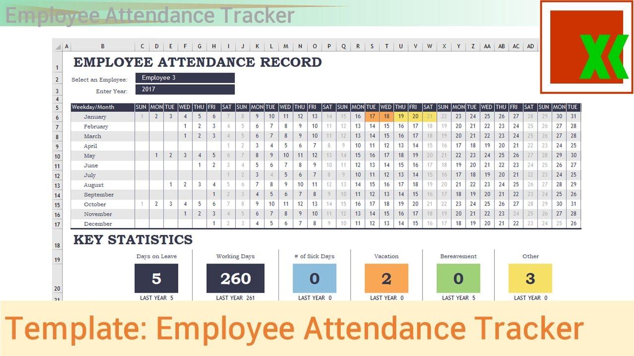 Employee Attendance Sheet Excel And Employee Attendance Sheet In Excel Free Download