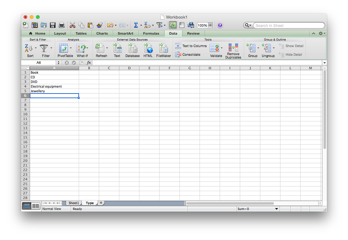 Excel Data Validation List From Table