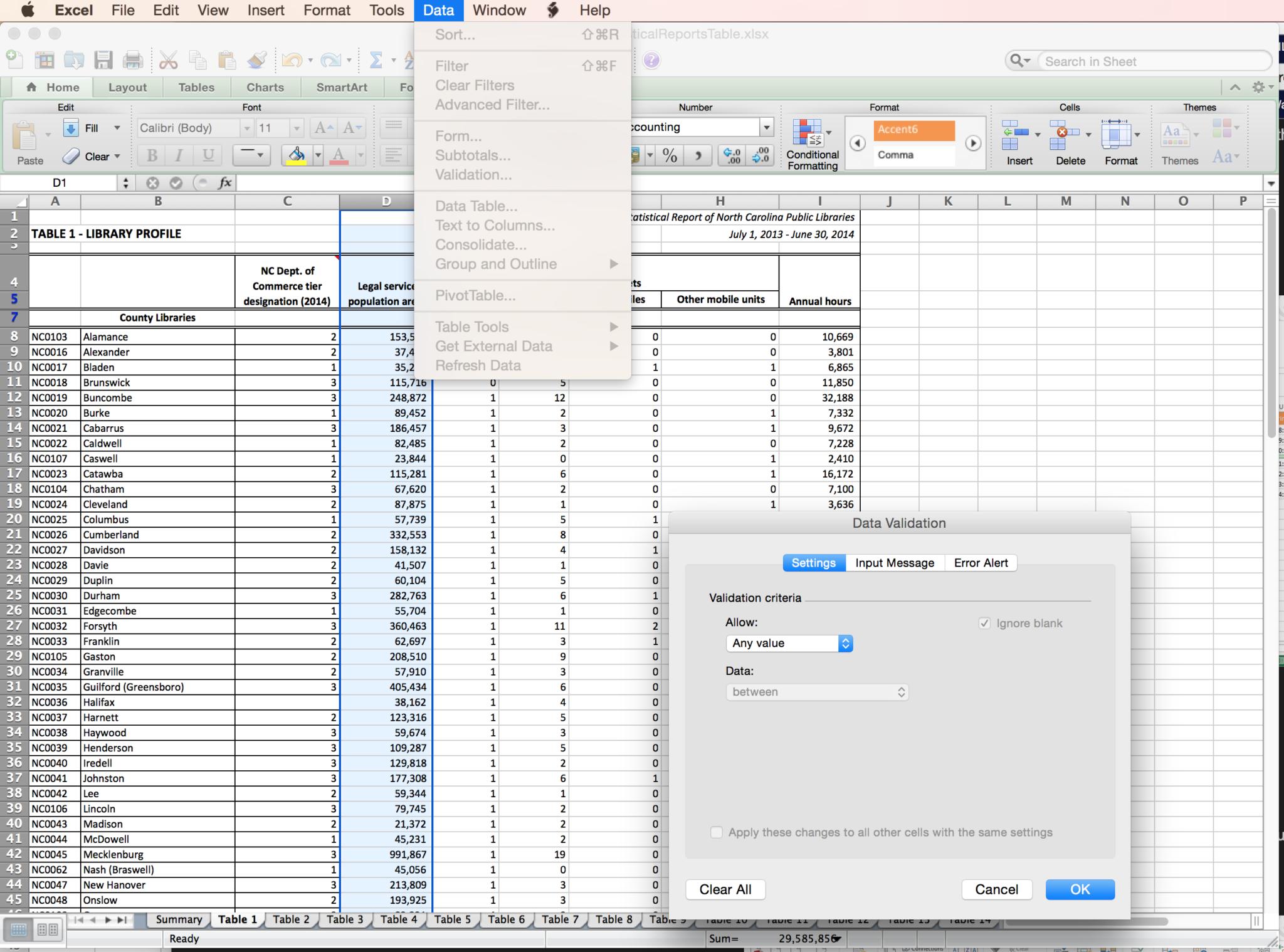 Excel Spreadsheet Validation For Fda 21 Cfr Part 1