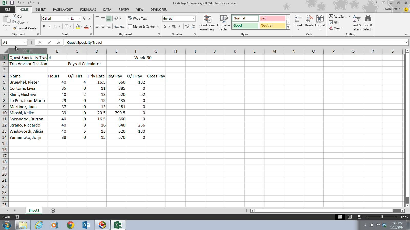 Excel Web Components