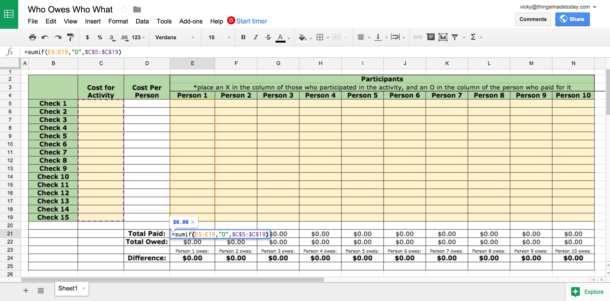 Features Of Spreadsheets