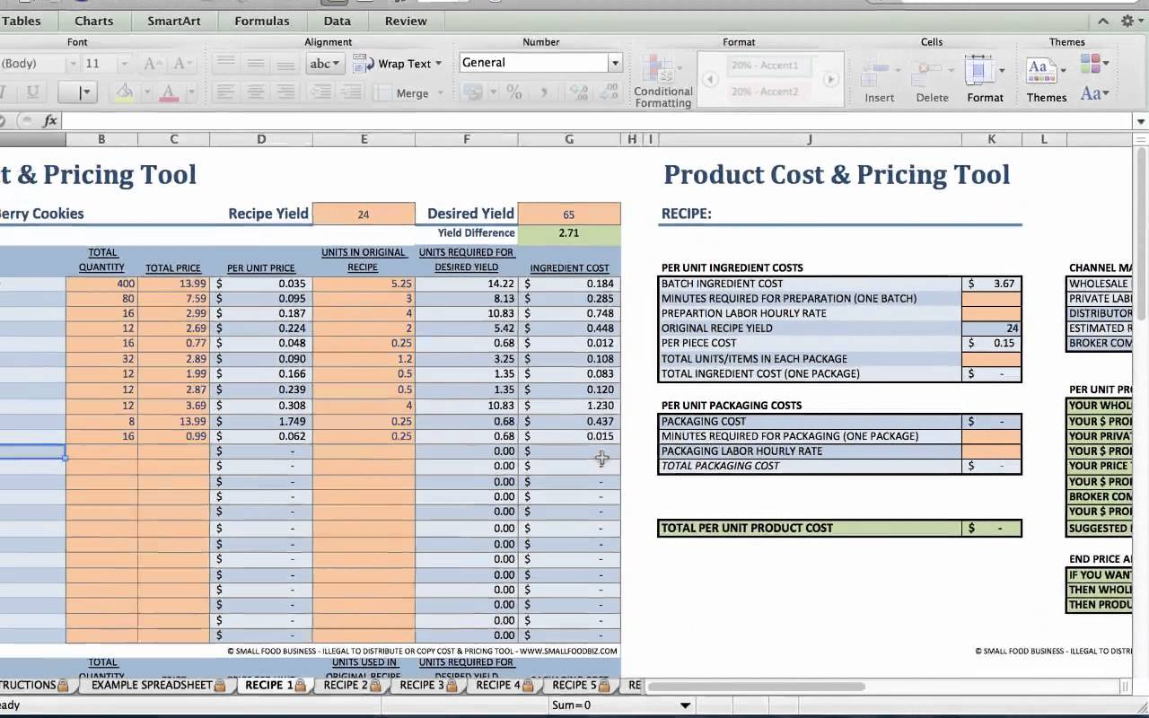 Food Cost Calculator For Catering AND Recipe Cost Calculator App
