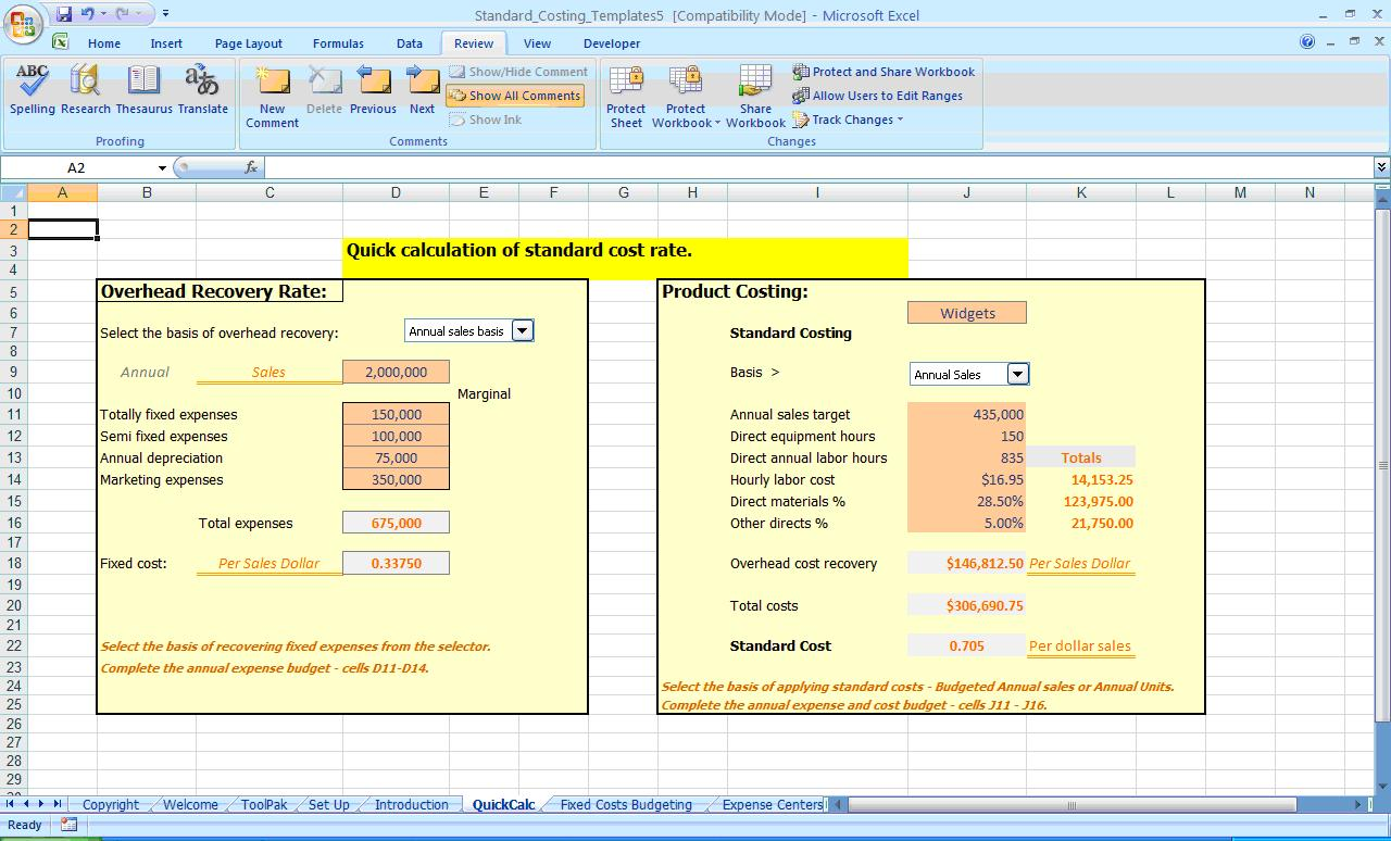 Food Cost Percentage Calculator AND Food Cost Calculator Free Download