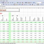 Income And Expenses Spreadsheet For Small Business