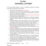 Lottery Syndicate Sheet