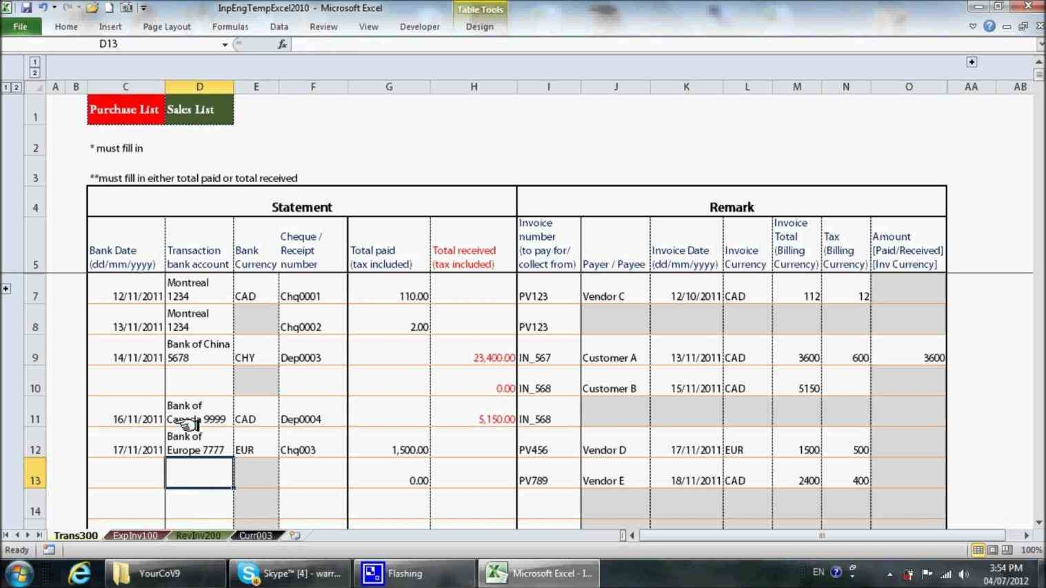 Monthly Business Income And Expense Worksheet