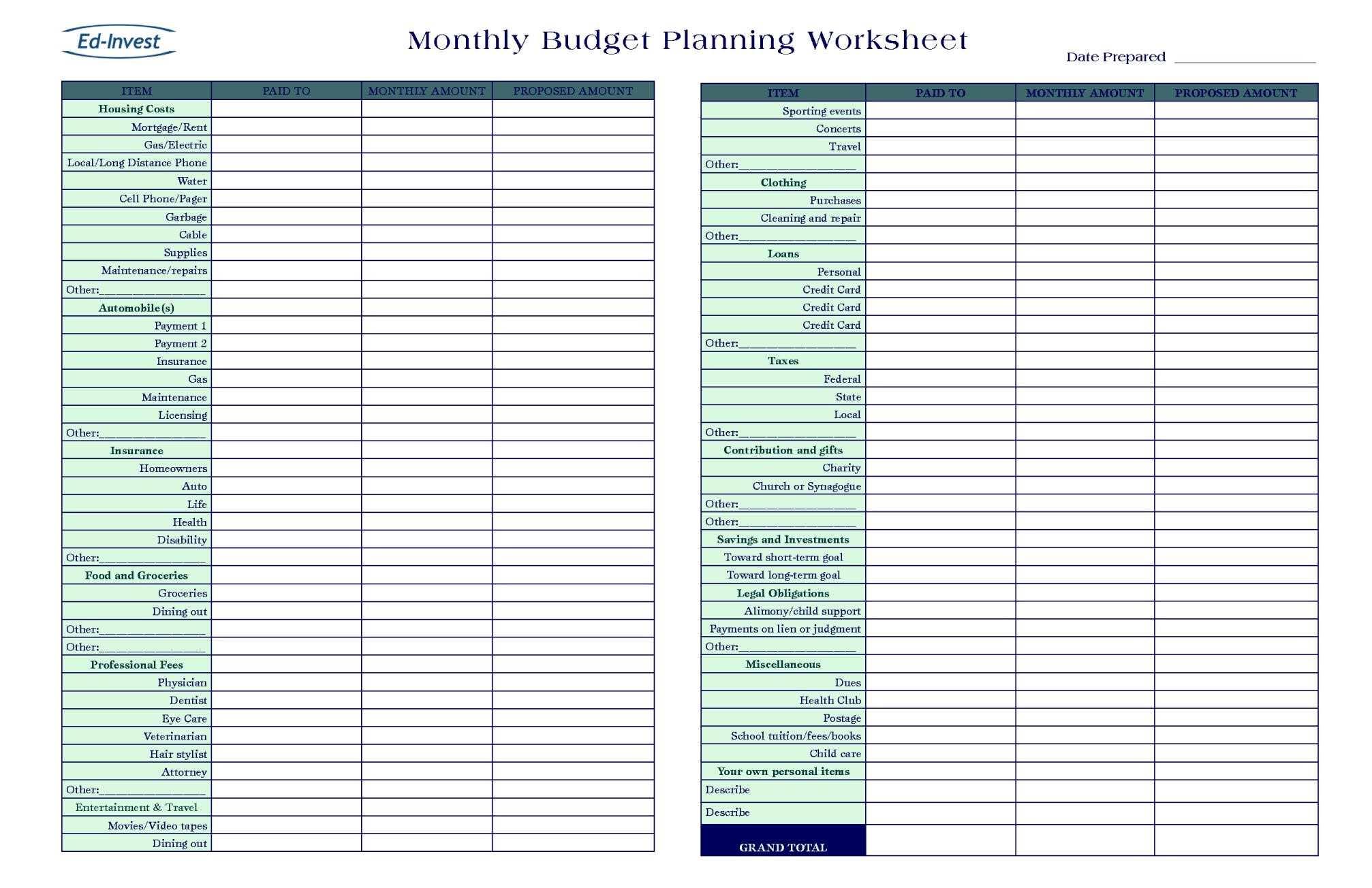 Online Budget Planner Calculator