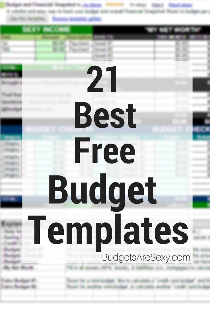 Personal Budget Plan Template Free