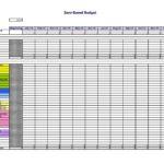 Sample Household Budget Spreadsheet