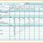 Samples Of Budget Spreadsheets In Excel