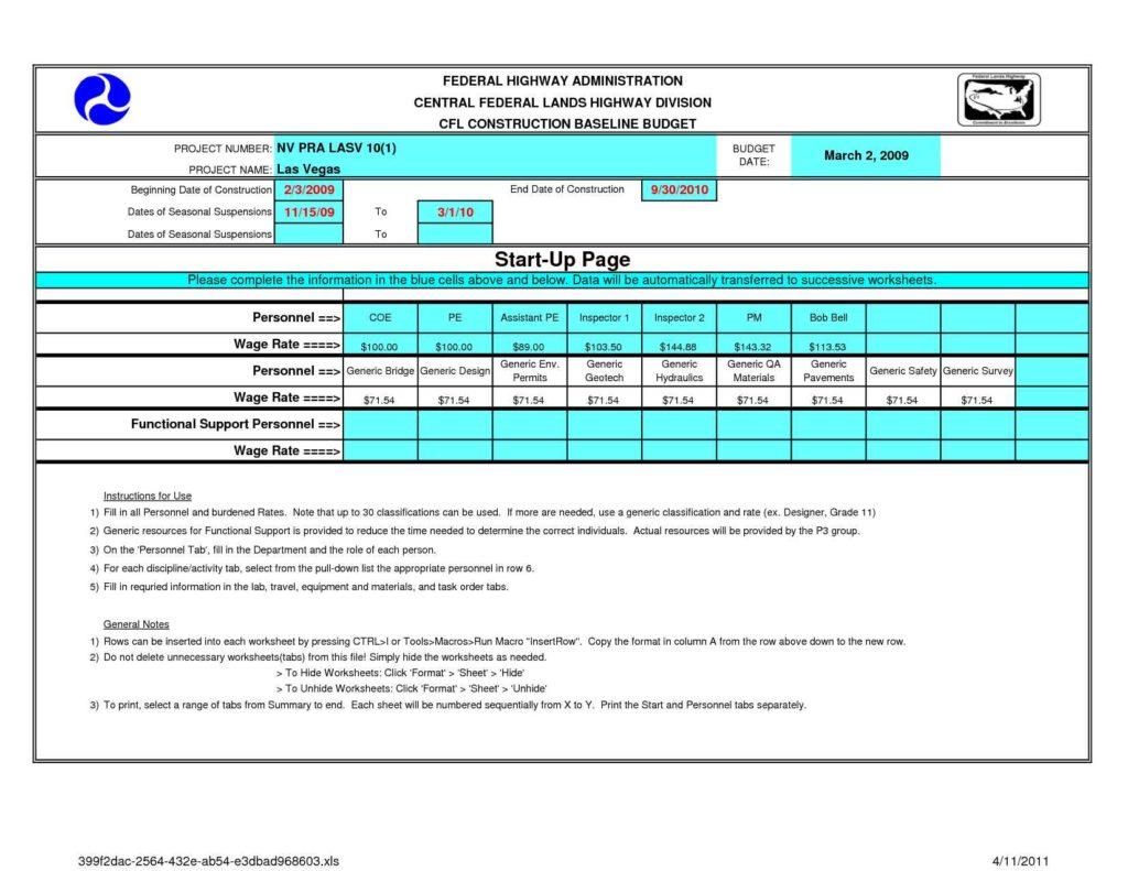 Building A House Budget Sheet