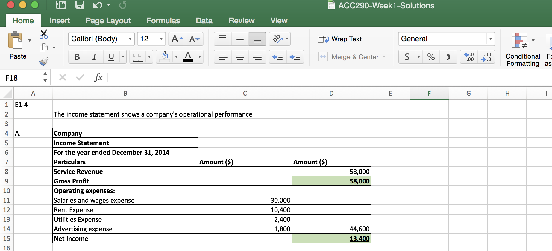 Business Expenses And Income Spreadsheet Template