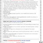 House Building Budget Sheet