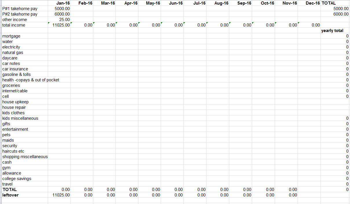 Monthly Budget Spreadsheet Dave Ramsey