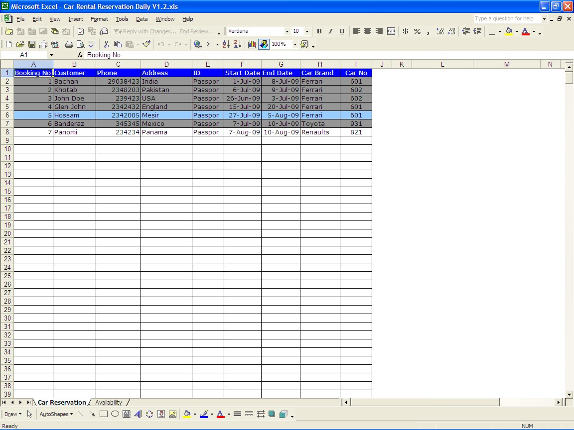 Mortgage Loan Comparison Spreadsheet