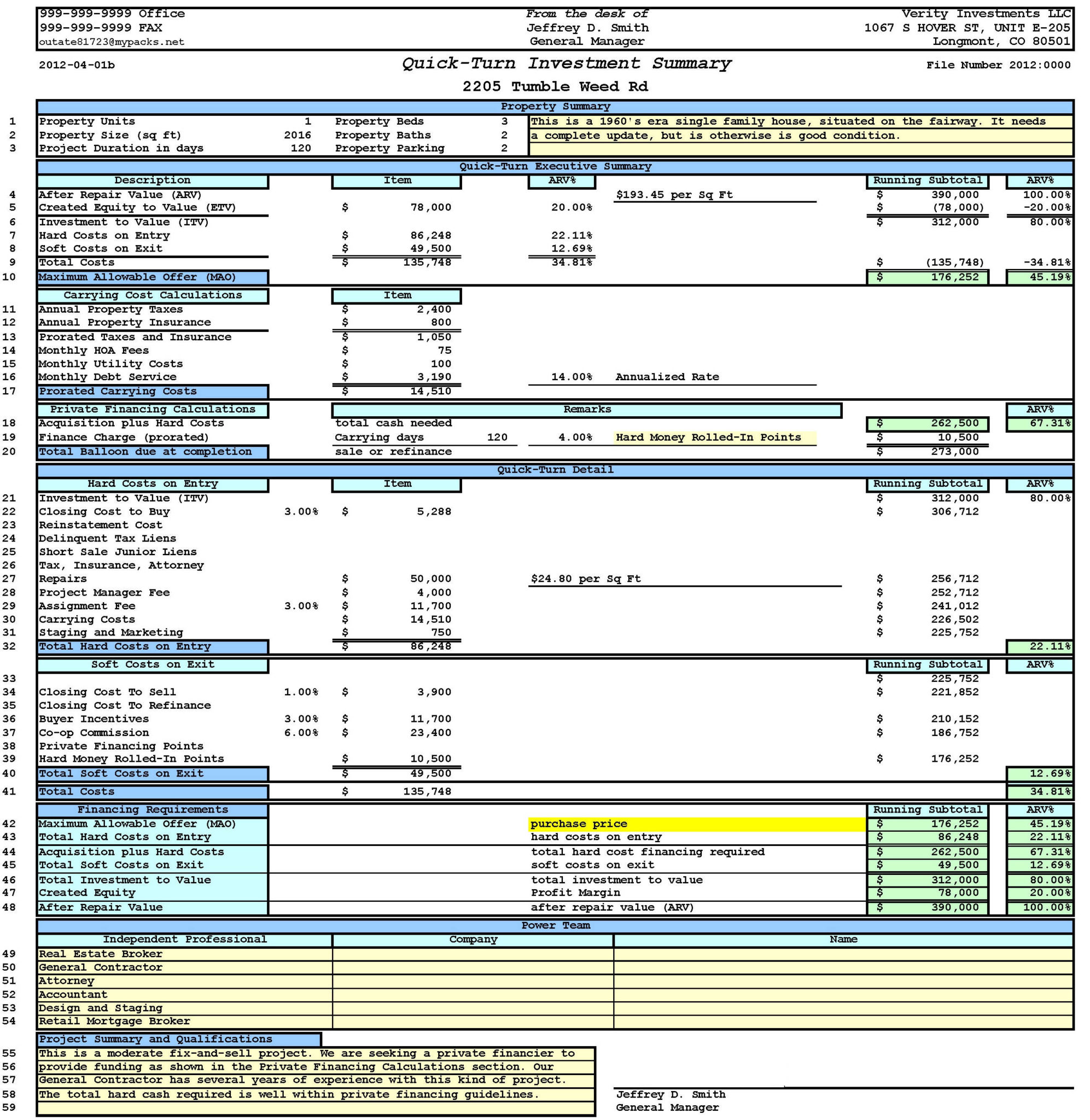 Mortgage Payment Comparison Spreadsheet