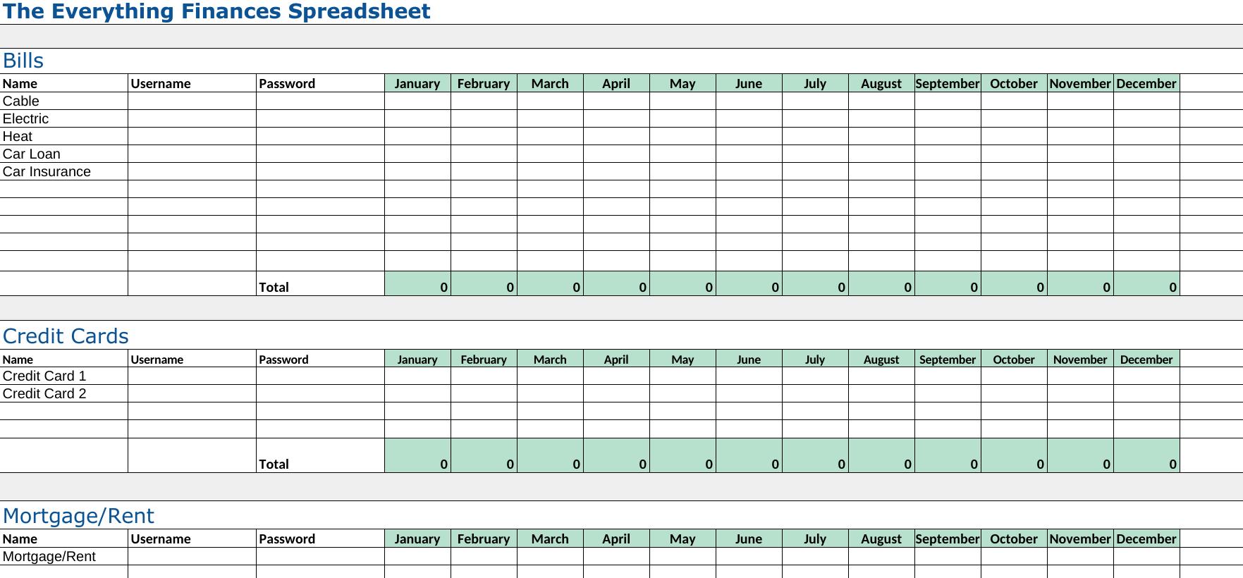 Mortgage Refinance Comparison Spreadsheet