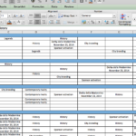 Sample Marketing Budget Spreadsheet