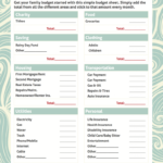 Simple Home Budget Form