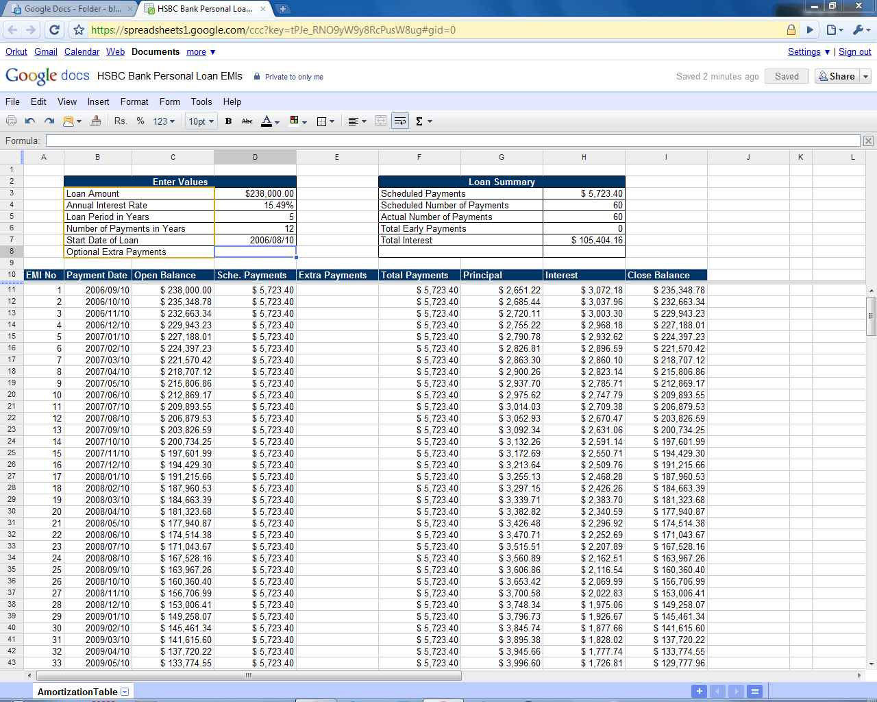 Total Cost Analysis Mortgage Comparison Spreadsheet