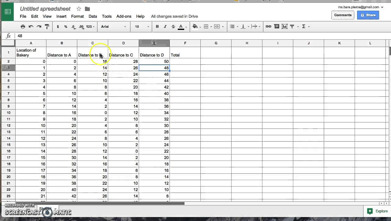Bakery Costing Spreadsheet download