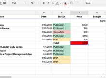 Editable Spreadsheet Html free