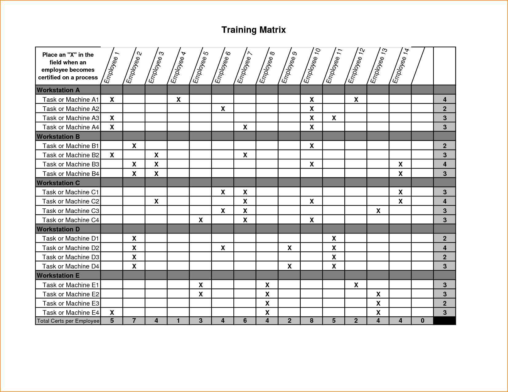 Free Employee Training Tracking Spreadsheet