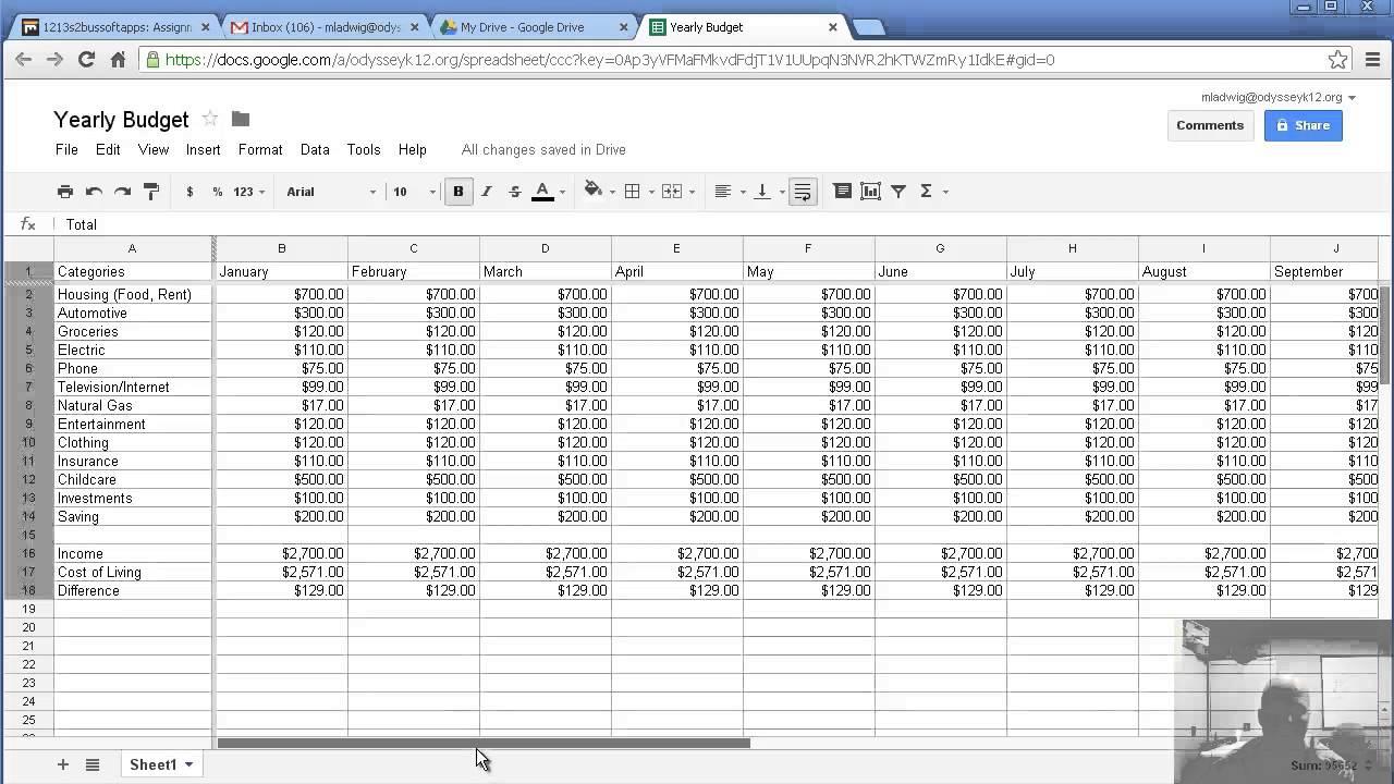 business budget spreadsheet templates