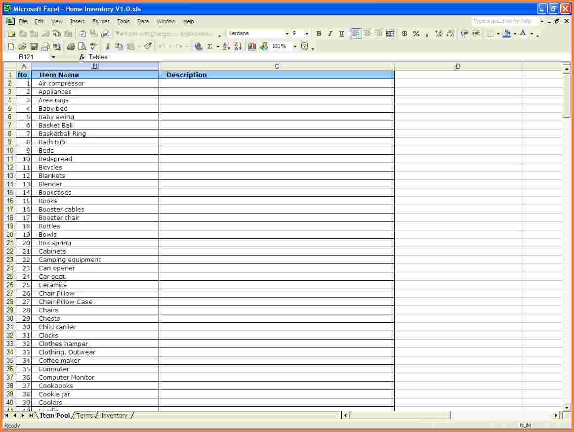 computer hardware inventory spreadsheet