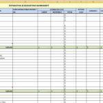 construction expenses spreadsheet templates