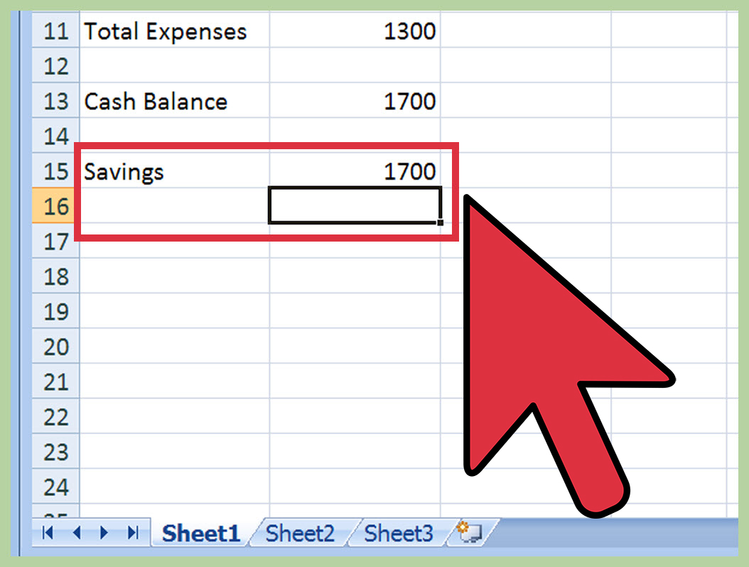 create a monthly budget spreadsheet