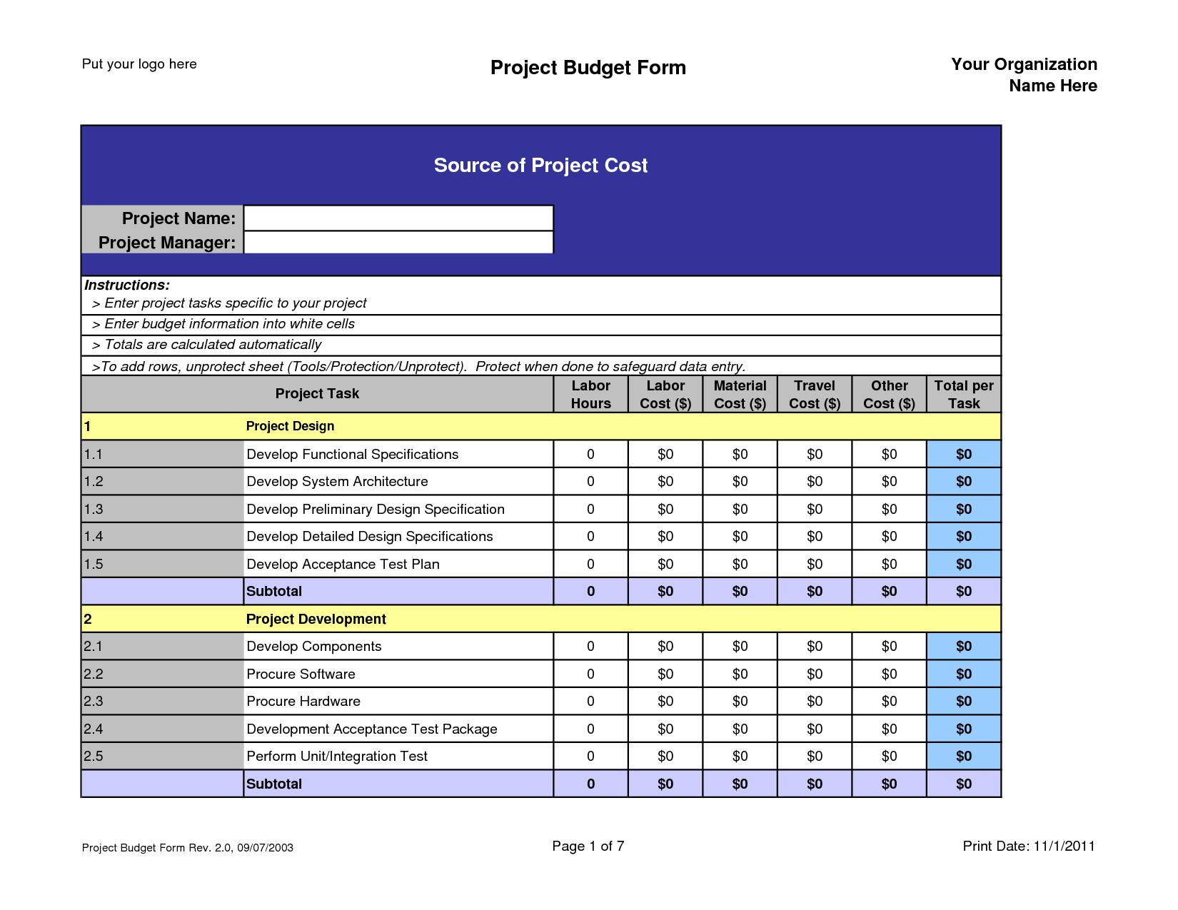 crop budget spreadsheet templates