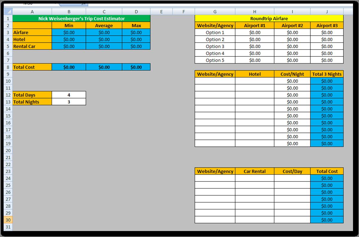 free apartment comparison sheet templates