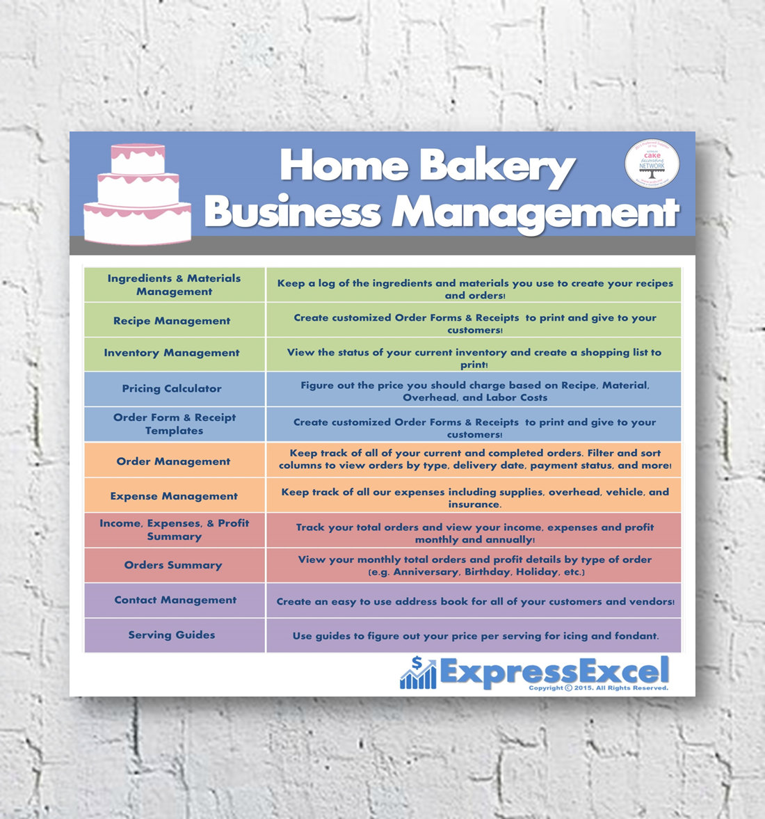 free templates Bakery Costing Spreadsheet