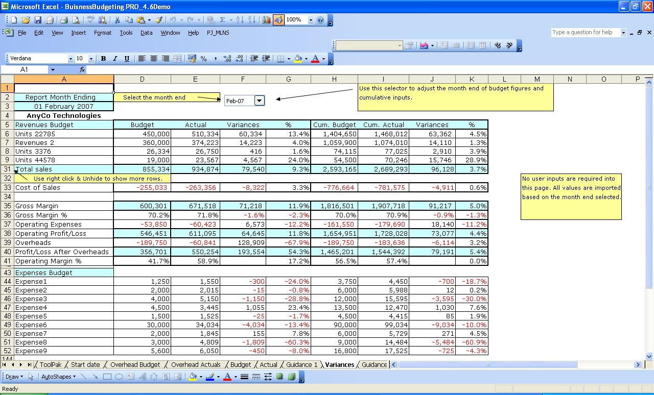 monthly budget spreadsheet excel free