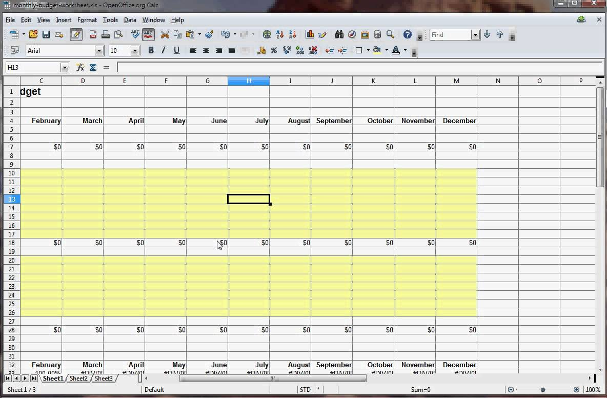 How To Make Your Own Budget Spreadsheet