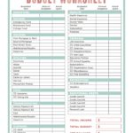 free How To Make Your Own Budget Spreadsheet