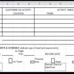 Travel Spreadsheet Excel Templates Free