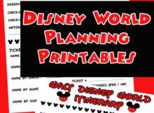 disney planning binder printables