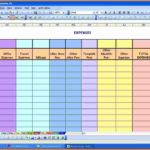excel template for household expenses