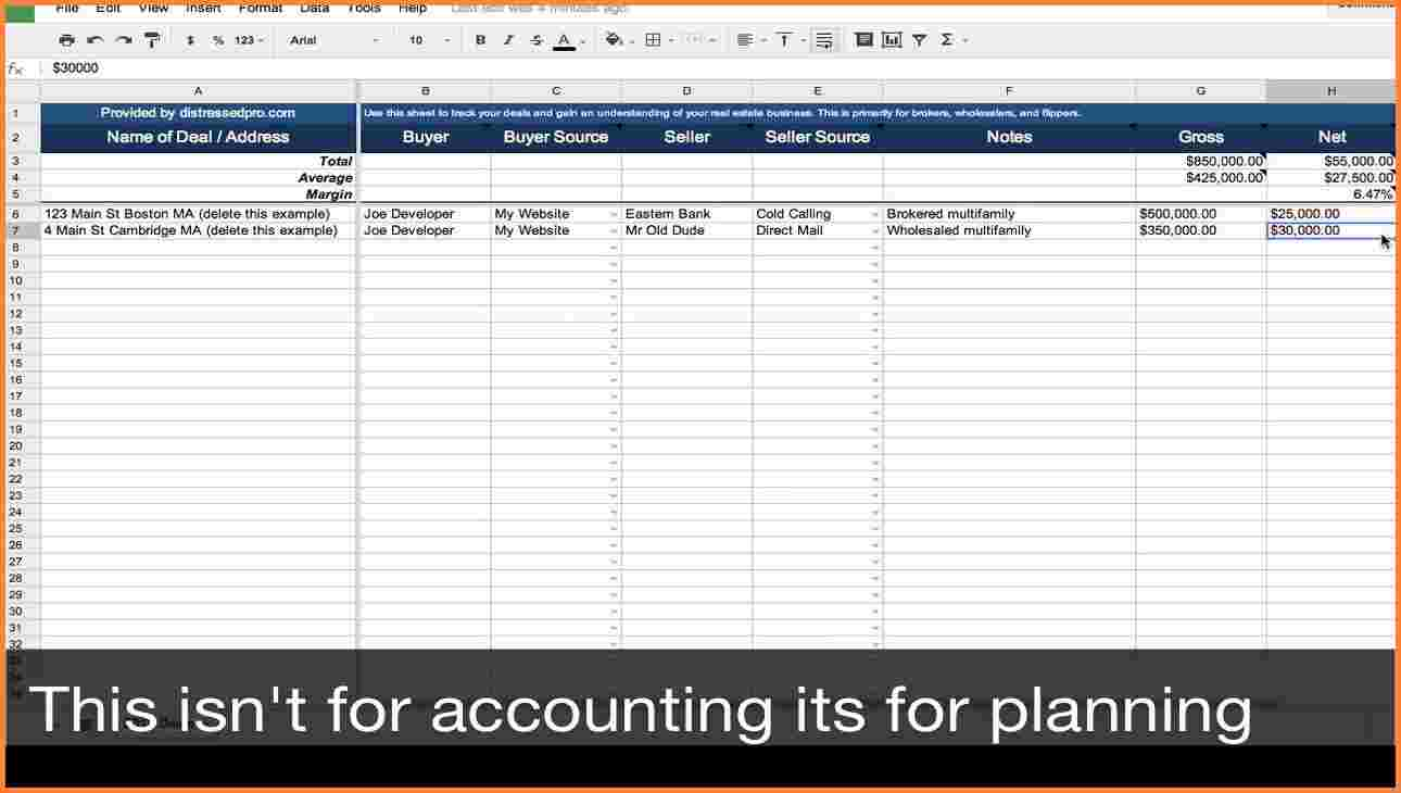 real estate agent expense tracking spreadsheet templates