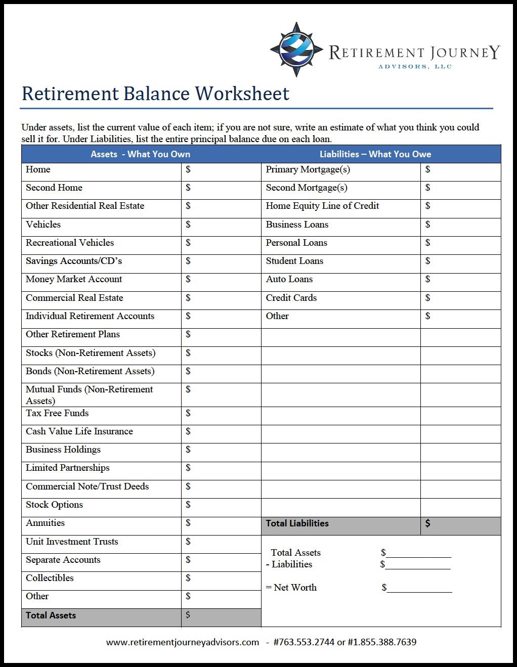 retirement budget calculator