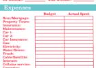 sample spreadsheet for household bills