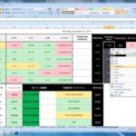 stock market excel spreadsheet