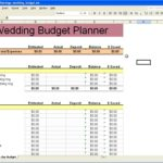 template for wedding planning spreadsheet