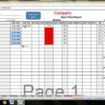 time study excel spreadsheet