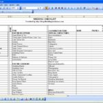 wedding vendor contact list template