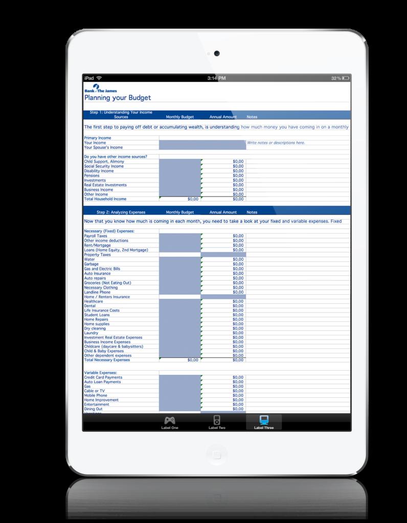 Budget Spreadsheet For Ipad