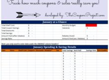 Coupon Spreadsheet App download templates